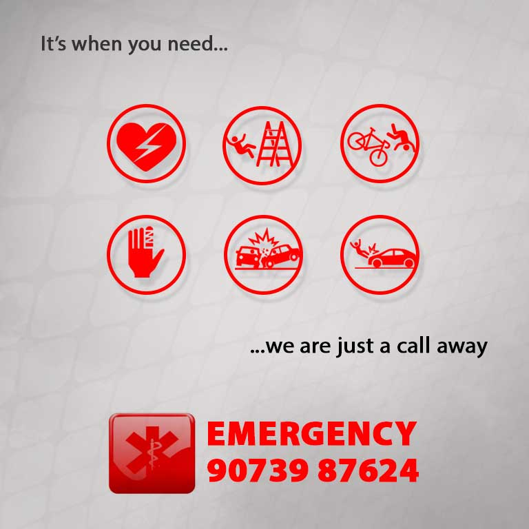 Emergency banner mobile Homepage north City Hospital